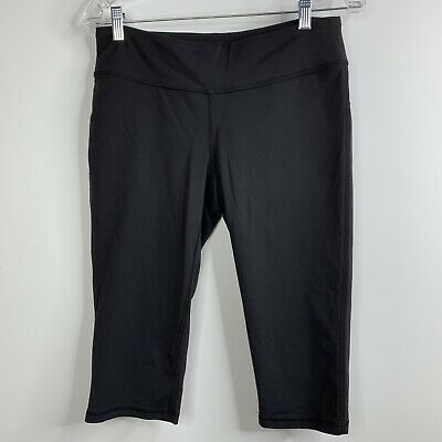 f159969c8d0f5 Lucy Capri Leggings Pants Medium Black Stretch Crop Yoga Exercise Athletic P