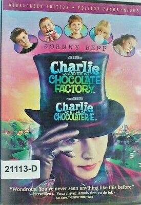 DVD CHARLIE AND THE CHOCOLATE FACTORY-Johnny Depp in Original Jacket FS. 10