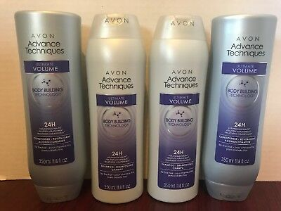 *Lot of 4* Avon Advanced Techniques Ultimate Volume Shampoo and Conditioner
