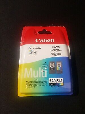 Canon PG540 Black CL541 Colour Ink Cartridges for Pixma MG3550 Sealed