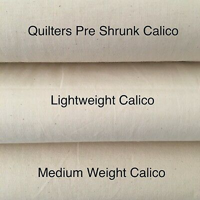 "Calico Medium Weight 63"" Light Weight Pre Shrunk Quilters Cotton Fabric 4 Meters"
