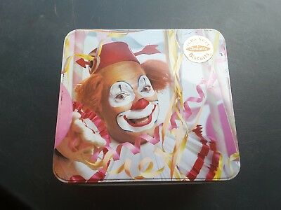 Arnott's * BIG TOP-  CIRCUS CLOWN * 1965 Vintage Biscuit Tin Bottom Paper Label