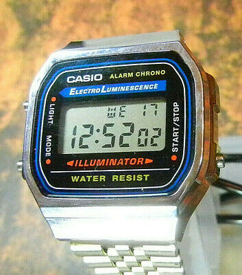 "CASIO ""Illuminator"" Men's 3-ATM Quartz LCD Alarm Dress Watch-RUNS-FREE SHIPPING!"