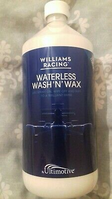 Williams racing waterless wash and wax. New. 1 litre bottle.