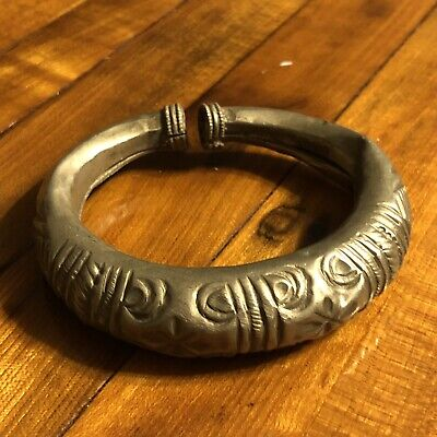 Late Medieval Antique Cuff Bracelet Jewelry Artifact Silver? Ottoman Islamic