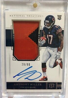 2018 National Treasures Anthony Miller RC RPA 2 Color Patch Auto #29/99 BEARS!!!
