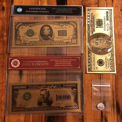 Gold Silver Investment Starter Lot Assay Card Coin Token Bill Old Numismatic