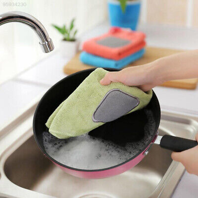 F8E8 Dishtowel Washing Scouringpad Thickening Towels for Kitchen Accessories