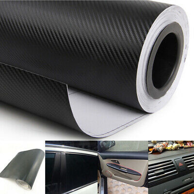 3D CARBON FIBER Look Vinyl Car Wrap Sheet Roll Film Sticker Decal