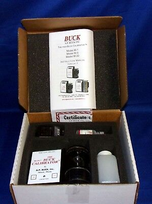 Mini-Buck Primary Flow Calibrator Model M-5 in Original Box W/ Calibration Soap
