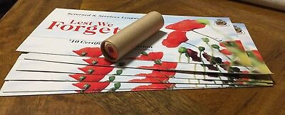 2012 $2 RSL Remembrance Day Coloured Red Poppy CHUBB roll of 25 UNC coin & certs