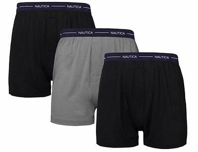 Nautica Mens 3-Pack Modal Boxer ( Pack of 3 ) Assorted Black-- Select SZ/Color.