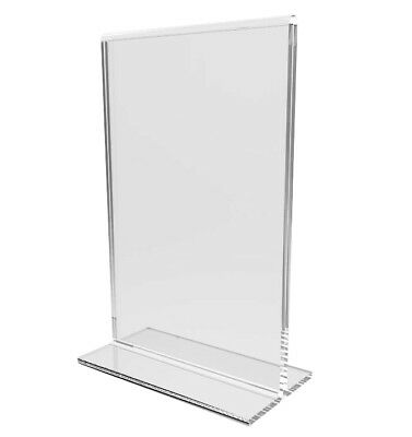 6PK Clear Acrylic Table Tent Frame Table Photo Frame Menu Holder Picture Frame