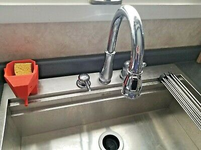 DELTA 1 HANDLE Pull-Down Kitchen Faucet w/Soap Dispenser in ...