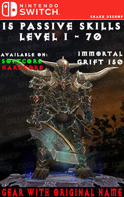 DIABLO 3 MODDED BARBARIAN WRATH OF THE WASTES GRIFT 150