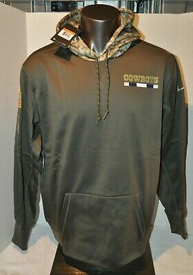 a9dad7ef040 Dallas Cowboys 2017 Salute to Service Men's Sideline Therma Hoodie Multi  Sizes