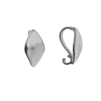 Sterling Silver Pinch Bails for Making Pendants Different Sizes