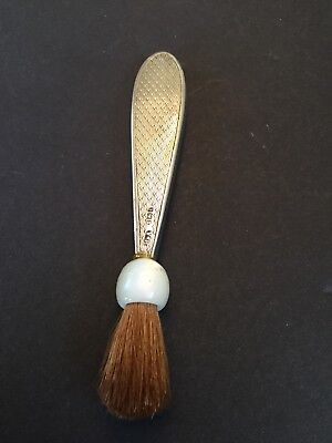 Antique Vintage Sterling Silver Makeup Cosmetic Brush Engraved 1900's Handle