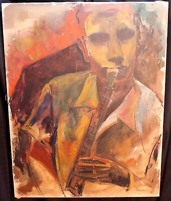 Original Richard Lahey 1893-1978 Oil On Canvas Abstract Expressionism Jazz 1930s