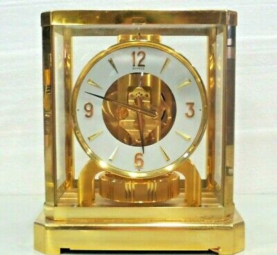 JUST FULLY SERVICED 1970s JAEGER LECOULTRE 528 ATMOS CLOCK #472000 SWISS WORKING