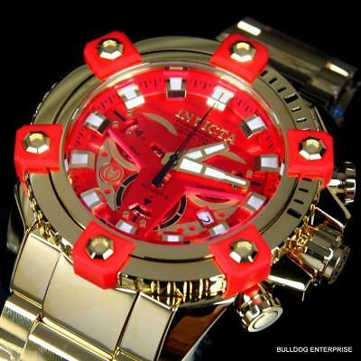 Invicta Marvel Iron Man Grand Octane High Polish Gold Plate 58mm Swiss Watch New
