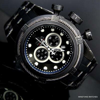 Invicta JT Reserve Bolt Zeus Swiss Made Chrono 52mm Black Distressed Watch New