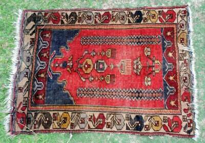 Antique Handmade Middle Eastern Tribal Rug