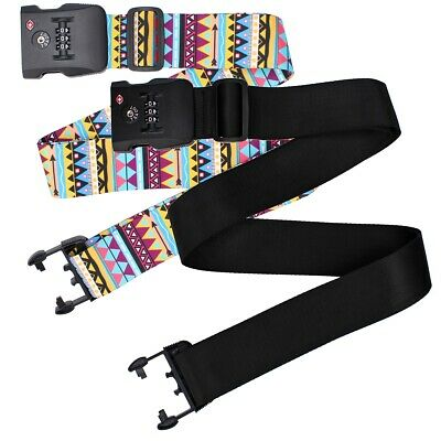 Adjustable Combination Packing Belt TSA Suitcase Coded 3-dial Lock Luggage Strap
