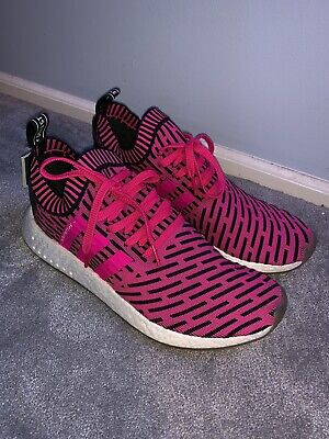 904c02845935f Adidas NMD R2 PK Primeknit Shock Pink Core Black Men s Running Shoes BY9697