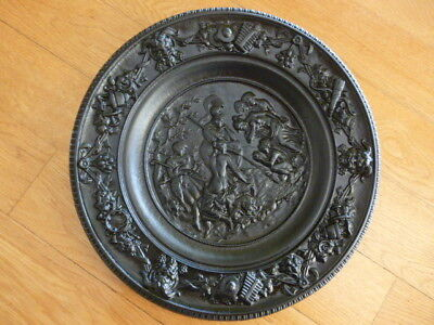 Antique 19Thc German Berlin Iron Metal Art Plaque Greek Mythology Judgment Paris