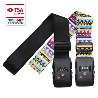 Luggage Strap Adjustable Suitcase Packing Belt with TSA Combination Lock 2 Color