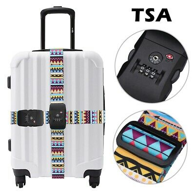 New Durable Combination Luggage Secure Safe Strap Belt Travel 3-Dial TSA Lock AU