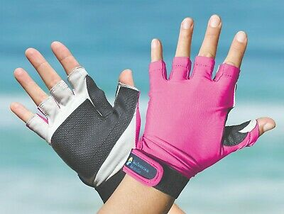 Sport Gloves UPF50+ PINK Sun Protection Kayaking Fishing Driving