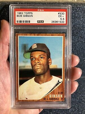 1962 Topps Bob Gibson #530 PSA 5.5 CENTERED TOUGH HIGH # EXCELLENT