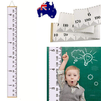 Wooden Kids Growth Chart Children Room Decor Wall Hanging Height Measure Ruler K