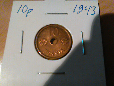 world war II coin 1943 10 pennia / 10p Finland FIN military antique coins WWII
