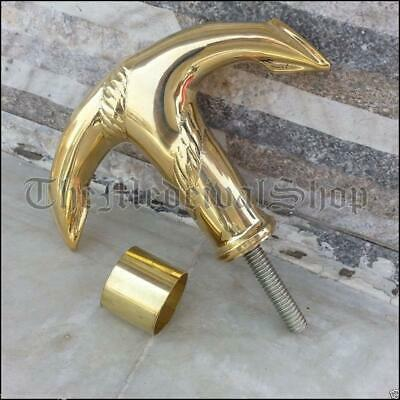 Solid Brass Victorian Anchor Handle Antique Style Vintage Walking Canes Stick @