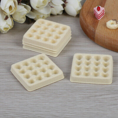 5 Pcs Dollhouse toy model miniature food playing mini empty egg tray YA