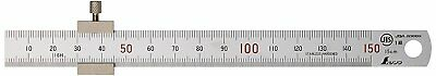 SHINWA Japan Measurement Straight Scale Silver 150mm With Stopper 76751