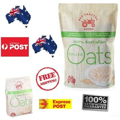Red Tractor 100% Australian Rolled Oats - 1.5 KG  Oats - Health FREE SHIPPING
