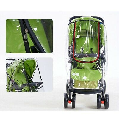 Waterproof Universal Rain Cover Wind Shield Fit Most Strollers Buggy Pushchairs