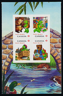 Canada 2545a Center Booklet Pane MNH Franklin the Turtle, Animals, Cartoons