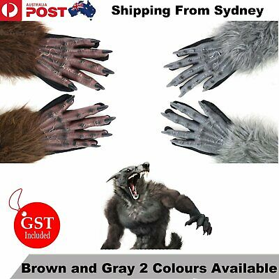40cm Halloween Werewolf Gloves Paws Claws Cosplay Gloves Scary Costume Party
