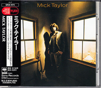 japan cd Mick Taylor S/T 1992 Japan CD 1st Press With Obi Hard to Find Very Rare