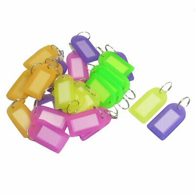 25 Pcs Assorted Color Key ID Label Tags Split Ring Keyring Keychain