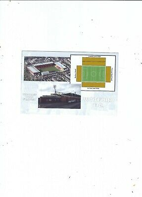 Uk Football League Vicarage Road Stadium Home Of Watford Fc Card Fst34