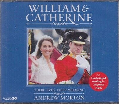 William & Catherine Their Lives & Wedding Andrew Morton 3CD Audio Book NEW