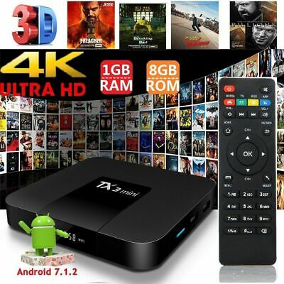 Superview TX3 Mini 2GB 16GB Android 7.1 Quad Core TV Box HD WIFI UK STOCK