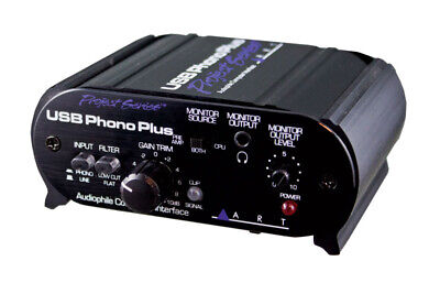 Art USB Phono Audio Plus Ps Preamplificatore una Interfaccia Audio (Nuova)