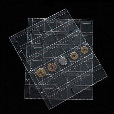 1X30 Classic Coin Collection Storage Album Page Folder Clear Pockets Holders